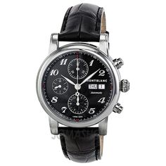 Montblanc Star Automatic Chronograph Black Guilloche Dial Mens Watch 106467