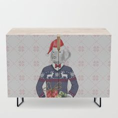 """A true statement maker. Our versatile mid-century modern inspired credenzas are great for use as TV stands, armoires, bar carts, office cabinets or the perfect complement to your bedroom set. The vibrant art printed on the doors will make your piece pop in any setting. Available in a warm, natural birch or a premium walnut finish.    - 35.5"""" x 17.5"""" x 30"""" (H) including legs   - Steel legs available in gold or black   - Interior shelf is adjustabl... Office Cabinets, Bar Carts, Weimaraner, Walnut Finish, Tv Stands, Birch, Toy Chest, Storage Chest, Mid-century Modern"""