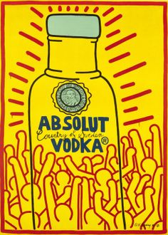 Absolut Vodka by Keith Haring