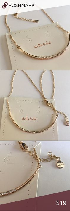 🆕Stella & Dot Paved Gold Necklace Very beautiful paved adjustable necklace Stella & Dot Jewelry Necklaces