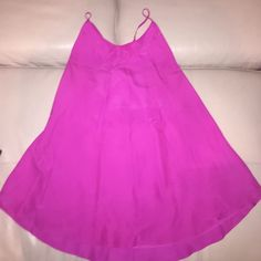 Hot Pink Mini Dress Worn once. Super cute. No stains or tears Forever 21 Dresses Mini