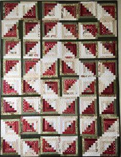 Log Cabin Quilt Pattern PDF Spring Quilt Pattern Summer Quilt