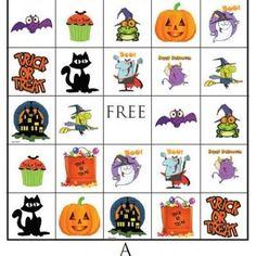 Free Halloween BINGO Printable {Free Printable Bingo Cards}