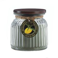 CITRUS & SAGE RIBBED JAR CANDLE