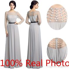 9880c3feab84 Real Image Silver Gray Chiffon Beaded Long Sleeve Mother S Pant Suit 2016  Amazing Detail Sheer Neck Mother Of The Bride Groom Dresses Joan Joan  Rivers Joan ...