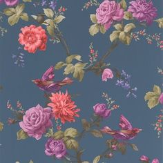 Fresco 10m L x 64cm W Floral and Botanical Roll Wallpaper