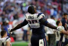 Chandler Jones (New England Patriots) lors de l'échauffement