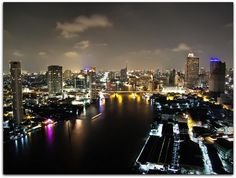 This is the view from the top floor (37th) of the 5-star Chatrium Suites Bangkok Hotel situated just down from the Fish Market in Bangkok.