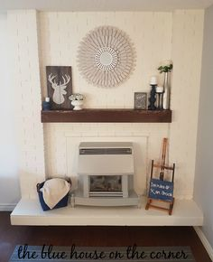 My beautiful fire place!  So in love.
