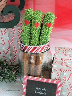 Grinch pretzels, Christmas movie marathon, Christm… – New Year Grinch Party, Grinch Cake, Grinch Christmas Party, Christmas Snacks, Xmas Party, Christmas Activities, Christmas Birthday, Christmas Holidays, Christmas Recipes