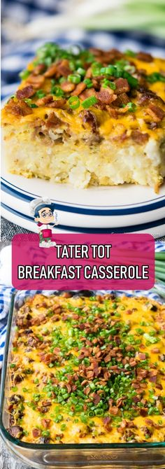 PLEASE SHARE THIS WITH YOUR FRIENDS AND FAMILY Ingredients: 2 ounce) packages breakfast sausage links 1 pound bacon 1 ounce) package tater tots 12 large eggs cup milk cup green onions thinly sliced teaspoon salt teaspoon black pepper 1 Tater Tot Bake, Tater Tot Breakfast Casserole, Breakfast Sausage Links, Monterey Jack Cheese, How To Cook Sausage, Recipe Today, Flu, Casserole Recipes, Weight Loss