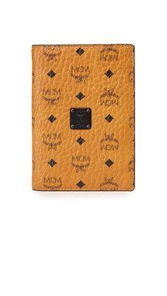 Cognac MCM Nomad Passport Case