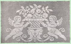 Heirloom Crochet - Vintage Crochet Patterns - Mary E. Fitch - Filet Crochet with Instructions No 3