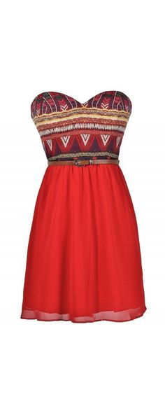 Southwestern Chic Belted Dress  www.lilyboutique.com