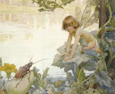 "Arthur Herbert Buckland (1870-1927), ""The Fairy and the Beetle"", 1922"