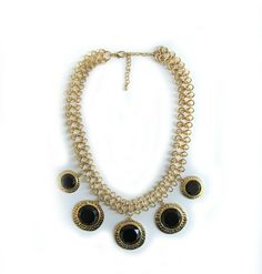 NEW ARRIVALS!!! BLACK MEDALLION NECKLACE | TWENTY THREE http://the23shop.com/products/black-medallion-necklace