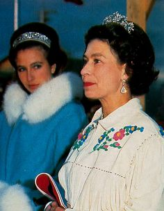 The Canadian Aquamarine Tiara worn by Queen Elizabeth during a tour of Canada in 1970