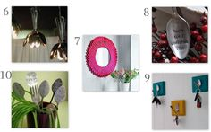 Lotus lighting, mirror frame, baby's first spoon, plant markers,