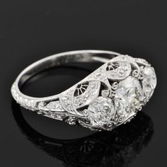 Exceptional Edwardian Diamond Ring | Perry's Fine Antique & Estate Jewelry