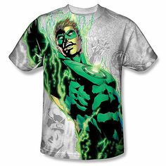 Green Lantern Grey Background Image on 100% Polyester #TShirt Dye | Dye sublimation t shirts http://lollipoptshirts.com/products/copy-of-muhammed-ali-black-red-image-on-100-polyester-t-shirt-dye-sublimation-7f2c58b5-ce93-4670-bf0e-28e9307a3f19