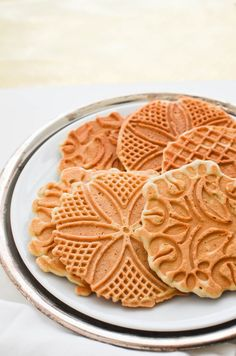 Christmas Five Spice-Scented Pizzelle