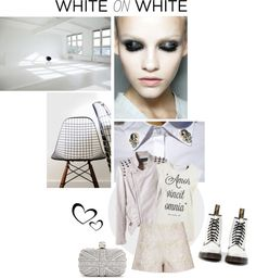 """White on White"" by elske88 ❤ liked on Polyvore"