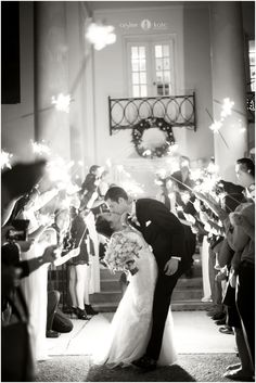 Black and white  |  Bride and groom  |  Bride and groom pictures  |  Bride and groom exit pictures  |  Wedding day  |  Sparkler pictures  |  Aislinn Kate Photography