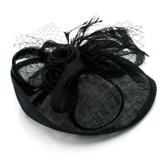 feathered fascinator hat ❤ liked on Polyvore