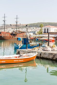 Rethymno Harbour, Crete, Greece