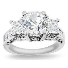 Natural carat Round Cut Certified Diamond 3 Three-Stone Anniversary Engagement Ring in Gold Center Carat D-E SI (white & eye clean) very good cut grade 3 Carat Diamond, Halo Diamond, Diamond Rings, Gold Ring, Bling Bling, Round Diamond Engagement Rings, Rings Online, Dream Ring, Diamond Are A Girls Best Friend