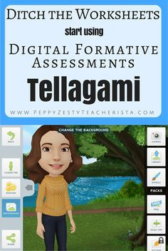 Tellagami app--students can create a character and tell about a topic, become a book character, etc.