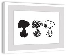 Description: Simple beauty describes this Peanuts framed art. Snoopy is featured…