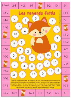 Subtraction Games, Math Games, Math Addition, Addition And Subtraction, Learn To Count, Board Games, Homeschool, Classroom, Teaching