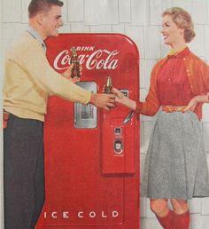 50s, vintage ad, coke