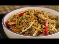 Chow Mien de Pollo (Fideos fritos estilo Chino)   Kwan Homsai