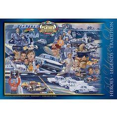 "Fanatics Authentic 50th Annual 2008 Daytona 500 Canvas 36"" x 48"" Program Print - $199.99"