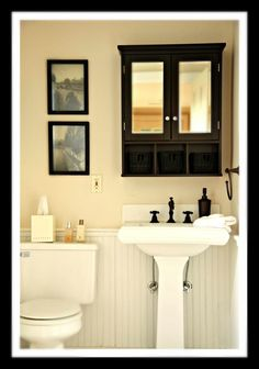 Bathroom Makeovers With Wainscoting before and after small bathroom makeovers big on style   small