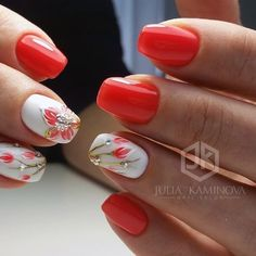 We have carefully collected the most beautiful styles of nails for everyone to give you inspiration for beautiful nails. Coffen Nails, Hot Nails, Acrylic Nails, Coral Nail Art, Coral Nails, Nail Polish Designs, Nail Art Designs, Nagellack Trends, Classic Nails