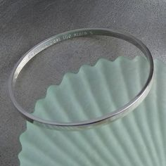 personalised silver bangle by hersey silversmiths   notonthehighstreet.com