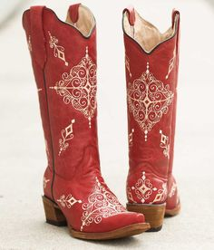 Red Cowboy Boots For Women Footloose | Cowboy boots | Pinterest