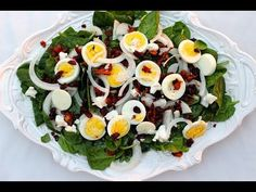 {Salad Recipe} Spinach Salad with Warm Bacon Dressing by CookingForBimbos.com - YouTube