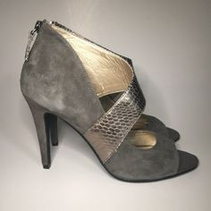 """✨NWT✨ Grey & Snake Print Heel No Trades or PayPal Same Day Shipping Offers Welcomed Please Use """"Make An Offer"""" Button  Bundle Discounts on 2 or more items  Audrey Brooke Shoes Heels"""