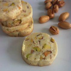 nowruz inspired pistachio, rosewater and cardamom shortbread cookies