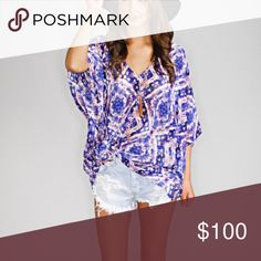Show Me Your Mumu Peta Tunic Show me your Mumu peta tunic in purple haze print. Worn once! Open to negotiate and will be open to trade for other mumu Show Me Your MuMu Tops Tunics