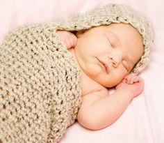 Hand Crocheted Baby Cocoon Photo Prop