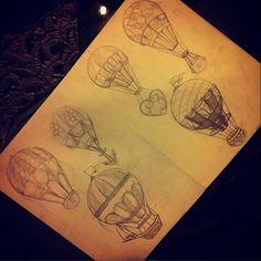 Lindos balões disponíveis pelo nosso grande artista @antoniomedeiros011 venha conhecer e agende seu horário. 11 32234174 Galeria do Rock 1º Andar Loja 228 studiotat2@yahoo.com.br #tat2 #inspirationtatto #galeriadorock #tattoo2me #tattooart #airballoon #airballoontattoo #traditionaltattoo #neotraditional #Tatuagem #sptattoo Air Balloon Tattoo, Grande, Balloons, Sketch, Studio, Tattoos, Instagram Posts, Scribble, Ideas