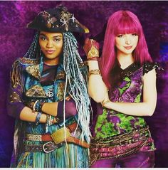 Dove Cameron as Mal and China Anne MicClain as Uma