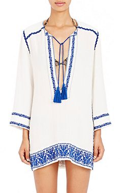 Isabel Marant Étoile Embroidered Varyia Cover-Up Dress - Cover-Ups - Barneys.com