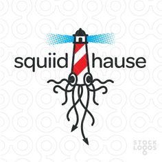Exclusive Customizable Logo For Sale: squid lighthouse   StockLogos.com