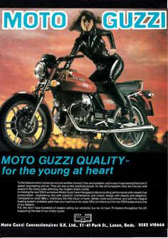 OCTOBER 1980 MOTO GUZZI 500  V50  MK11 MOTORCYCLE. MAGAZINE ADVERT.